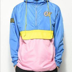 Odd Future Yellow, Pink & Blue Windbreaker Jacket